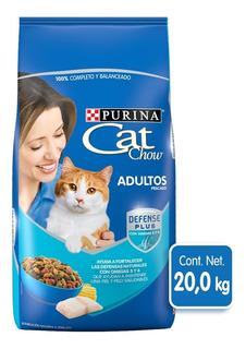 Alimento Para Gato Cat Chow Bulto 20 Kg