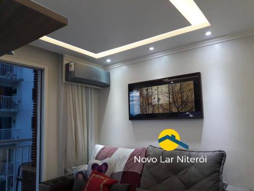 Imagem 1 de 15 de Excelente Apartamento No Fonseca 3 Quartos Sendo 1 Suíte E 1 Vaga - 23