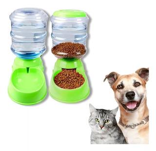 Pack X2 Dispensador De Comida Y Agua Mascota Perro Gato