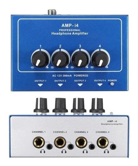 Amplificador De Fones De Ouvido Misturador De 4 Canais
