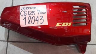 Cacha Lateral Derecha Honda Cg 125 ( Mod. Viejo ) Rojo