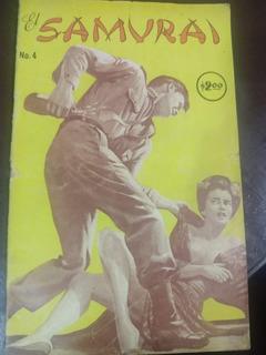 El Samurai No.4 Comic Bufete Historietista Año-1974