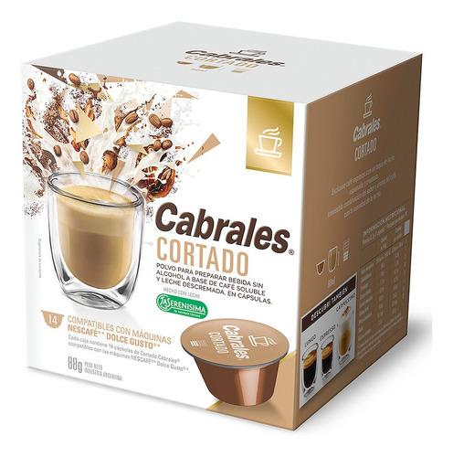 Cafe Capsulas Cabrales Cortado Dolce Gusto