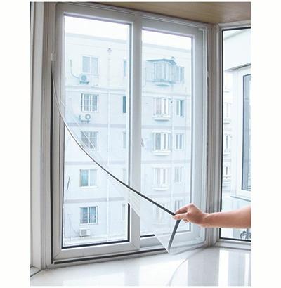 Tela Mosquiteiro Com Fira Para Janela Ou Porta 130x150cm