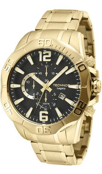 Relógio Technos Dourado Os1aap/4p Masculino Classic Legacy