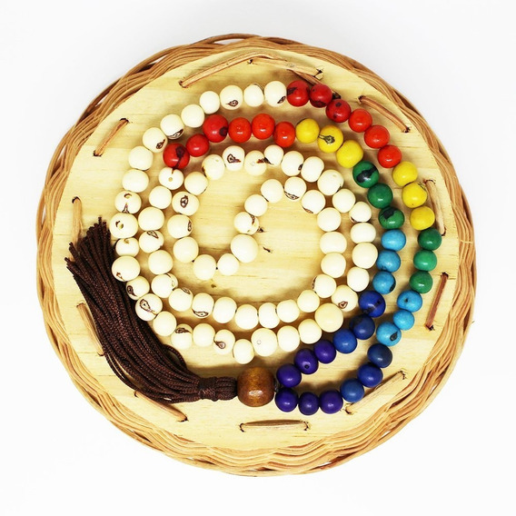 Japamala Budista Ho`oponopono 108 Contas Sementes De Açaí