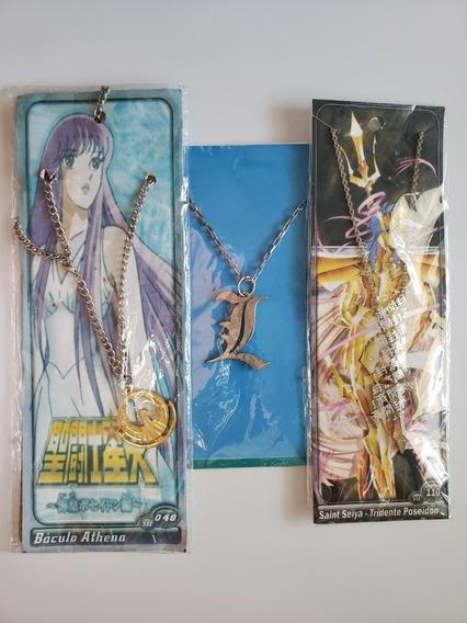 Colar Pingente Death Note - Saint Seiya (lote)