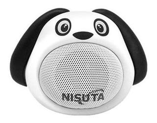Nisuta Parlante Portatil Bluetooth Perro Blanco Ns-pa81bp-b