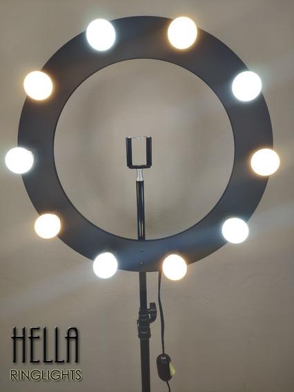 Ring Light 10 Preto Lâmpada ( Tripé + Sup. Celular)