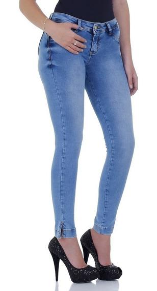 Calça Jeans Zigma Skinny Realça Bumbum Azul Com Bojo