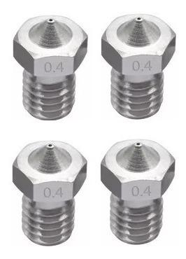 Bico Nozzle Impressora 3d 1.75mm 0,4mm Inox (2 Unidades)