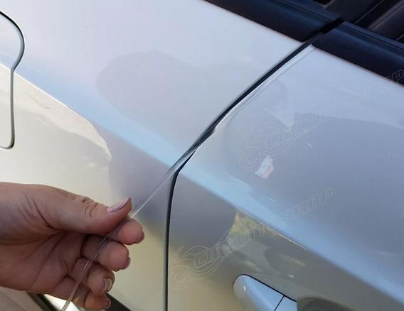 5 Frisos Adesivo Protetor M2 Transparente Quina Porta Carro