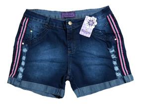 Short Jeans Feminino Colorido Plus Size 44/58 Promoção