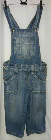 Macacão Jeans Capri Via Marte Feminino 38 Cintura 74 Cm