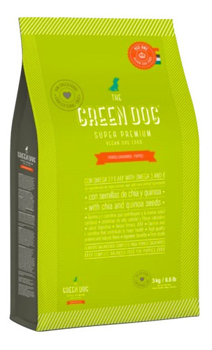 The Green Dog Alimento Vegano Para Perros 10kg Cachorro