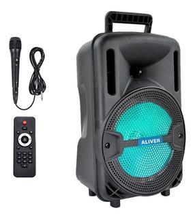 Parlante Portátil 8 Púlgadas Bluetooth Luces Led Microfono