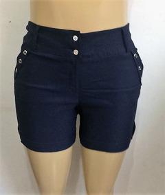 Shorts Feminina De Bengaline - Plus Size Kit 4 Peças