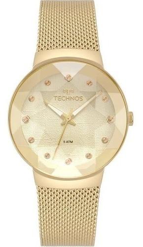 Relógio Technos Feminino Crystal Dourado 2035mpw