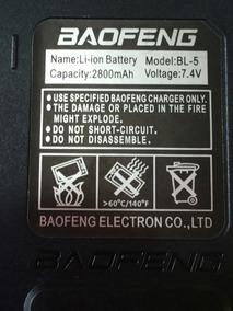 Bateria Ultra 2800mah P/ Ht Baofeng Uv5