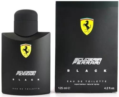 Perfume Ferrari Black 125ml Masculino Edt + Brinde Amostra