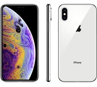 iPhone Xs Max Prata 64gb Película/capa Garantia 7 Meses