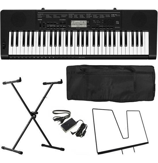 Kit Teclado Casio Ctk3500 Arranjador 61 Teclas Sensitivas