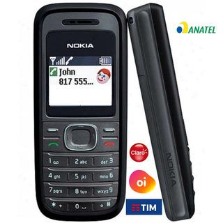 Celular Nokia 1208,2g,idoso Simples,anatel,pega Oi,tim,claro