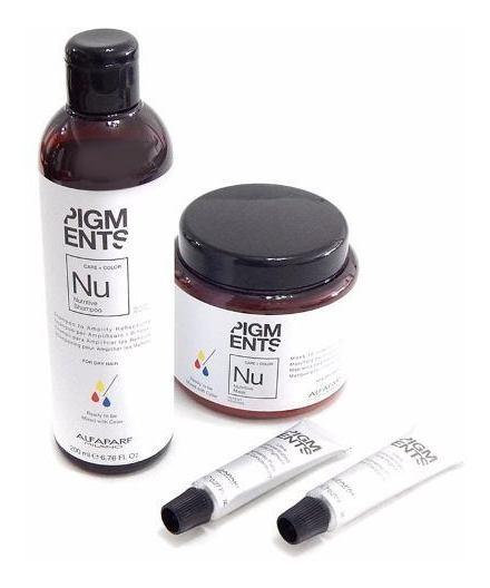 Kit Nutricion Alfaparf Pigments Shampoo + Mascara + Pigmento