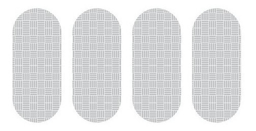 Imagem 1 de 3 de 25 Cartelas Etiqueta Refletiva P/ Capacete Sherman  7cm