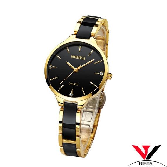 Relógio Feminino Nibosi/original/luxuoso/promoção/barato