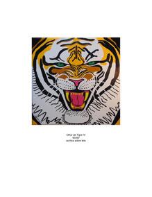 Tela 60x60 Olhar De Tigre Iv Pintura Em Acrílico