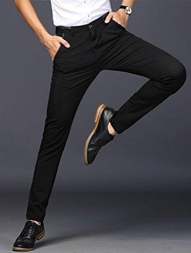 Pantalones De Vestir Elasticos Para Hombre Plaid Plain Slim Mercado Libre