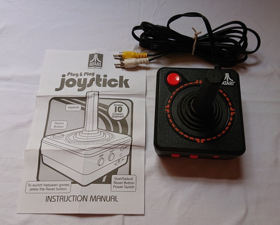 Atari Original - Controle Plug And Play Com 10 Jogos Memória