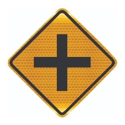 Placa Cruzamento De Vias Refletiva A-6 Ti