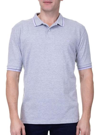 Camisa Polo Colombo Masculina Com Detalhe Azul Noite