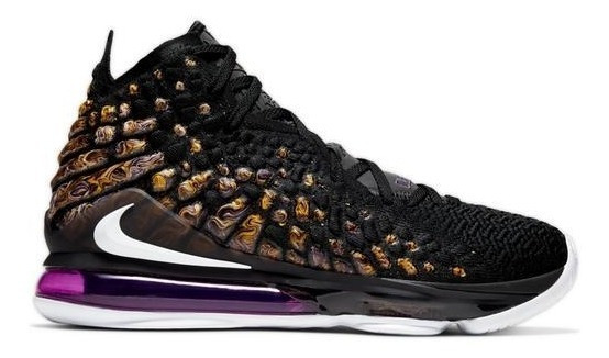 Nike Lebron 17 Lakers Gs (youth) Importación Mariscal