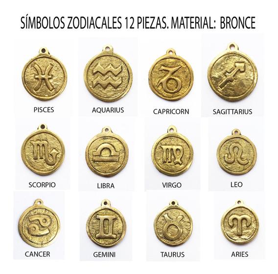 12 Dijes Del Zodiaco De Bronce, Espiritual,místico,símbolos