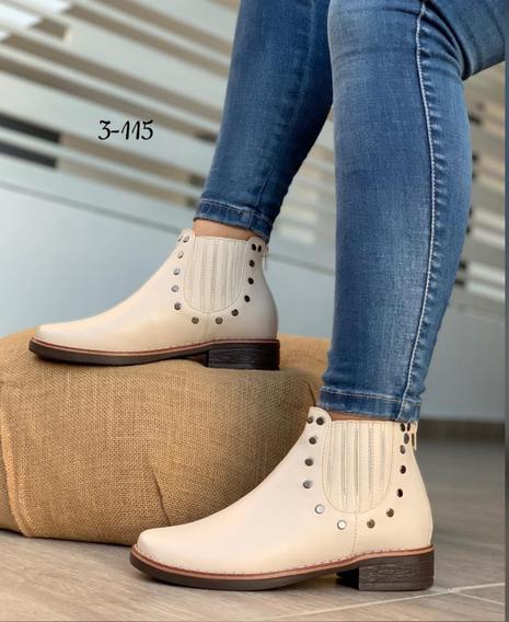 Zapatos Botines Corte Bajo Dama Moda Colombiana