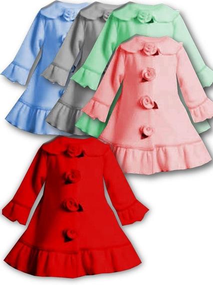 Chaquetas Suéter Abrigo Rosas Para Niñas Fabrica Manta