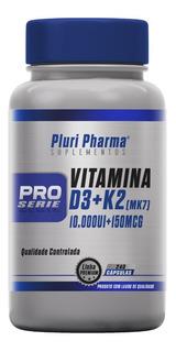 Vitamina D3 10000ui + Vit K2 150mcg - 240 Cápsulas