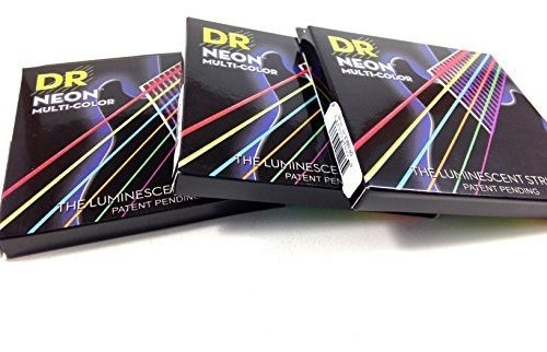 DR Strings Guitar Strings 3 Pack Electric Neon Red 09-46 Light and Heavy