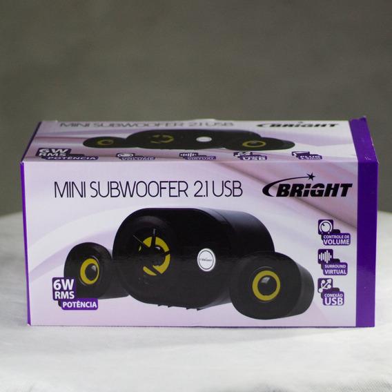 Mini Subwoofer 2.1 Usb - Bright