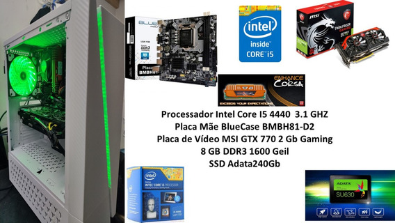 Pc Gamer Core I5 4440 8gb Ssd 240 Gb Gtx 770 2gb !!!