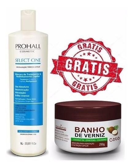 Prohall Select One Sem Formol 1 Litro + Brinde Banho Verniz