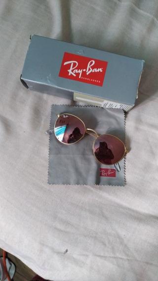 Lentes Rayban Originales Color Oro Rosa. Entrego Estuche Pañ