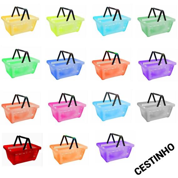 Kit 20 Cestos Coloridos - Cestos Para Lojas