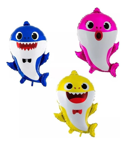 Pack 3 Globos Baby Shark 55 Cm