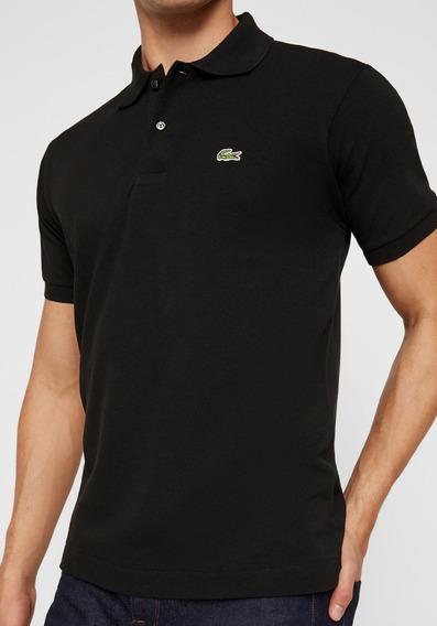 Camiseta Lacoste Gola Polo Promoção Preto Peru Masculino Top