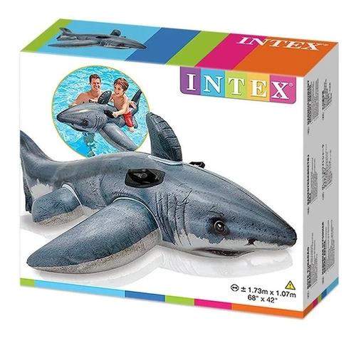 Flotador Tiburon Blanco Realista Intex