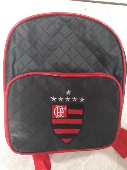 Mochila Flamengo Infantil + Copo Com Escudo Do Mengão